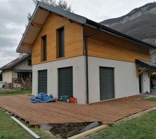 Terrasse bois en cours