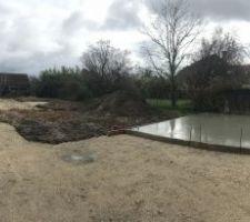 Photo panoramique du chantier en cours.