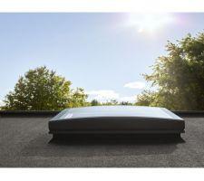 Fenêtres toit plat VELUX courbés fixes pour séjour et garage
