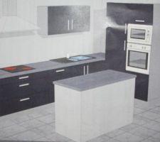 C'est definitif, ma cuisine aura cette implantation  (idée: signature cuisine  photo : cuisinella)