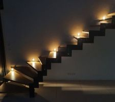 Escalier le soir