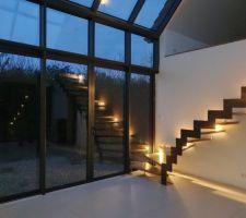 Escalier et jeux de reflets