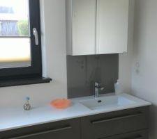 Crédence vasque salle d'eau rdc