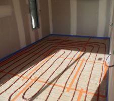 Installation chauffage chambre de la suite parentale.