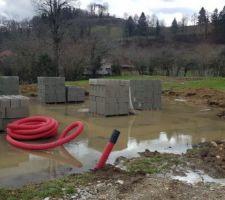 Fondations inondées