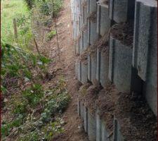 Élévation mur de soutènement