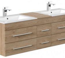 Meuble de salle de bain double vasque 153cm