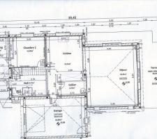 Plan du rez de chaussée plus garage.