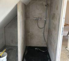 Fairnce de la douche terminée