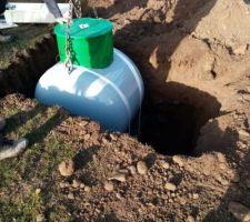 Livraison et installation de la cuve de gaz