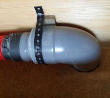 Sortie PVC (D100 + réduction D80), gaine 75