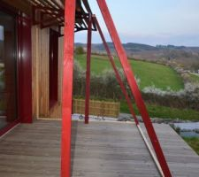 Bricolage sur la terrasse