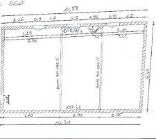 Plan actuel de l'appartement du R+1