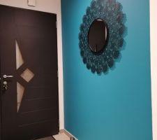Mise en place miroir Hall d'entrée