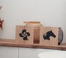 DYI, peinture sur bois, croix basque