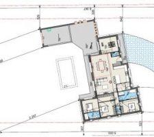 Plan de masse (salle de jeux et dimensions terrasse pas à jour)