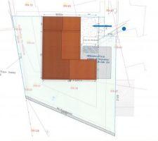 Plan de masse CCMI - terrain terrassé plat