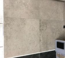 Carrelage aspect béton sol salle de bain