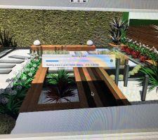 Idée jardin fait pour le petit jardin de ma petite maman ;)