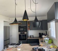 Présentation suspension cuisine pour voir le rendue et la validation de tout le monde