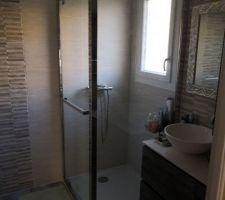La salle d eau de notre suite parentale, fonctionnelle