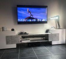 Vue d?ensemble nouveau meuble TV