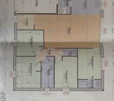 Plan de la maison pas tout à fait définitif car la taille n?est pas exact il s?agit du modèle 204