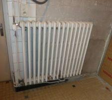 Le vieux radiateur en fonte...