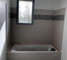 Faïence et carrelage salle de bain des enfants