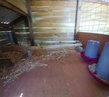 Poulailler: aménagement intérieur partie poule terminé