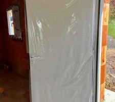 Porte d'entrée sans fenêtre (exigence BdF) en gris souris (exigence BdF again)