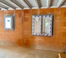 Fenêtres chambre parentale et salle d'eau