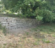 Muret en pierre sèche