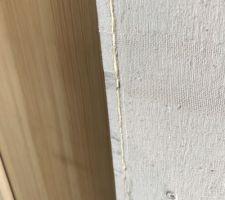 Détail de pose du fermacell - L'angle une fois arasé à la défonceuse