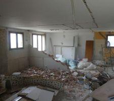 Démolition de l'appartement en RDC