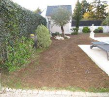 Preparation du terrain pour la pelouse