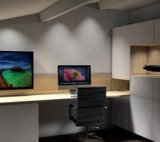 Projet bureau... les plans 3d en IKEA haking