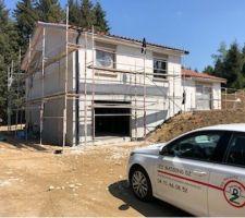 Préparation de la maison pour la crépir. Photo fourni par Maisons DZ.