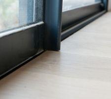 Finition seuil de baie vitrée