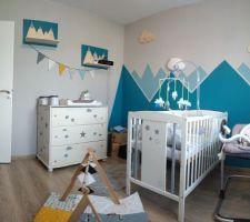 Il y a un an, nous préparions la chambre de bébé Lion ! peinture murale faite à la main !  déco murale fabriquée par mon mari !