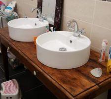 Meuble vasque DIY pour la SDB