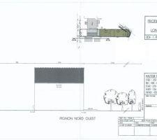 Plan de profil dans la dernière version du permis de construire