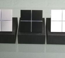 Interrupteurs aluminium version KNX pour démo