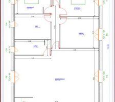 Voici le plan établi par le constructeur, maintenant nous attendons que l?architecte créer celui pour le permis de construire.