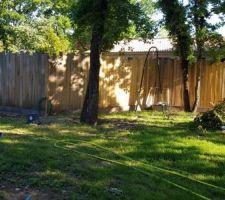 Rendu final de la clôture en châtaignier