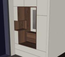 Plan du meuble d'entrée fait sur mesure