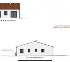 Version 3D des diverses facade de la maison.
