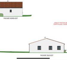 Plan 3D des façades de la villa.