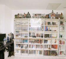 Bibliothèque Ikea Billy avec portes Morliden
