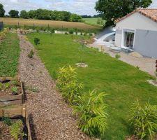 Plan du jardin au dessus du talus .